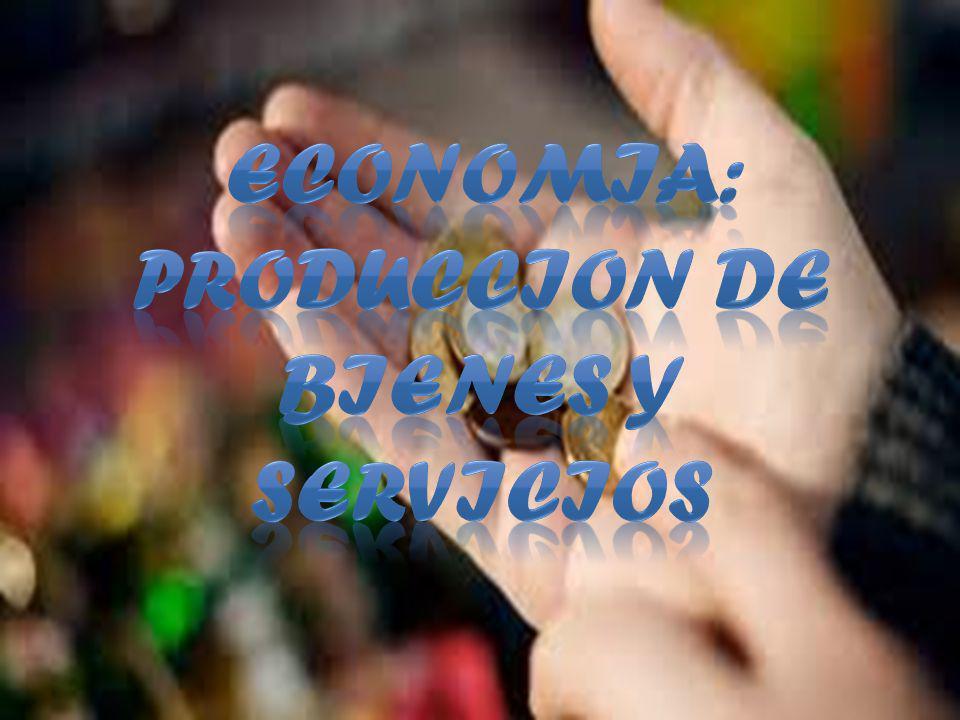 ECONOMIA: PRODUCCION DE BIENES Y SERVICIOS