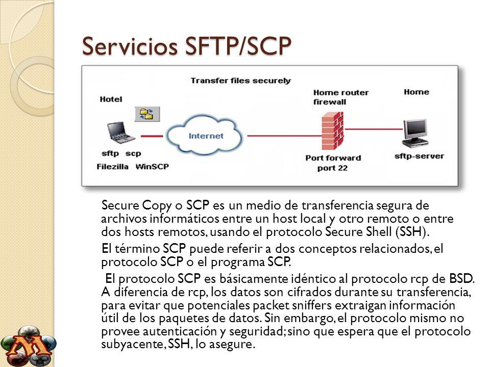Servicios SFTP/SCP