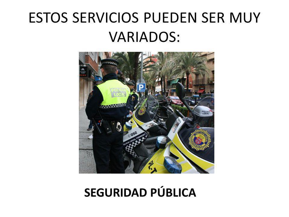 ESTOS SERVICIOS PUEDEN SER MUY VARIADOS: