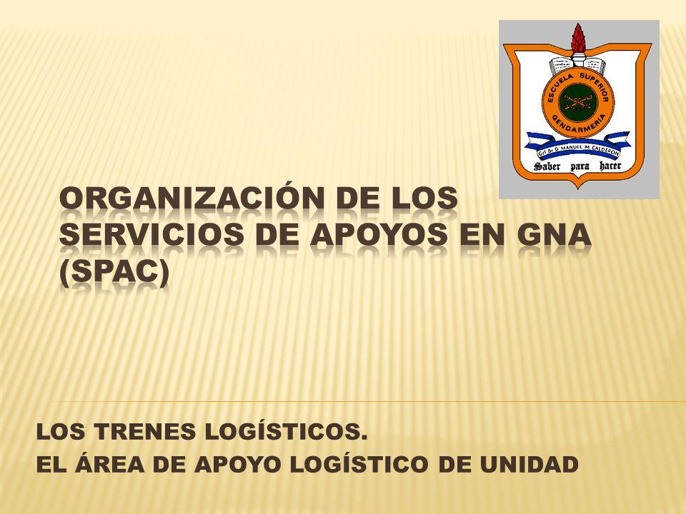 ORGANIZACIÓN DE LOS SERVICIOS DE APOYOS EN GNA (SPAC)
