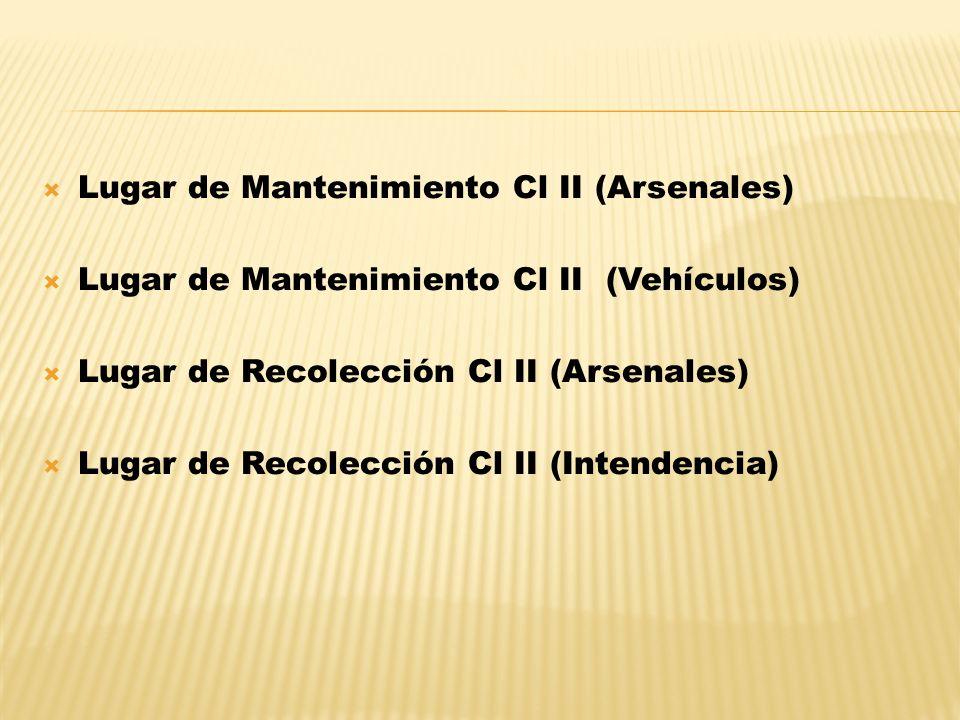 Lugar de Mantenimiento Cl II (Arsenales)