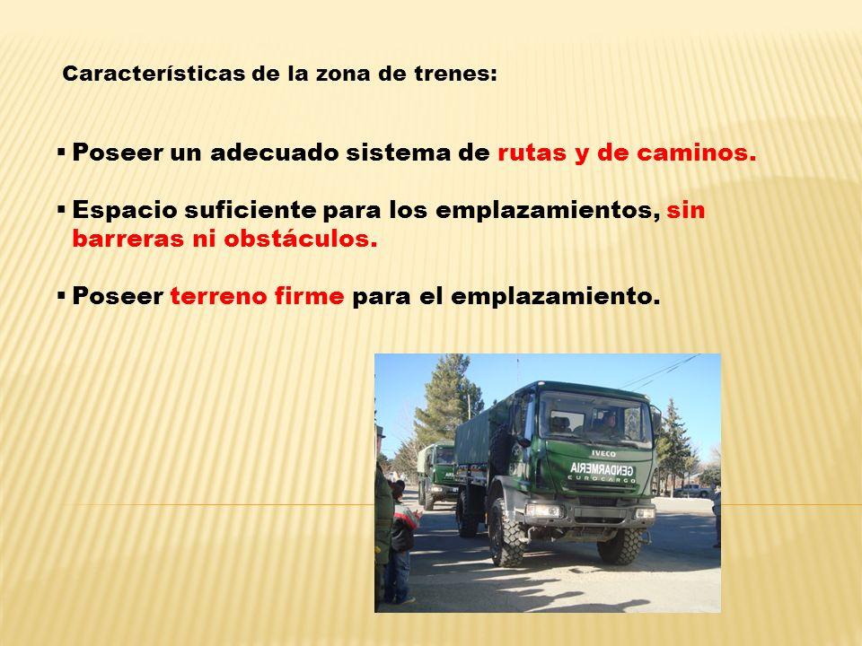 Características de la zona de trenes: