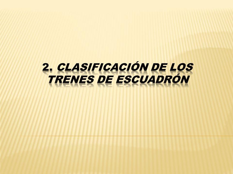 2. Clasificación de los trenes de Escuadrón