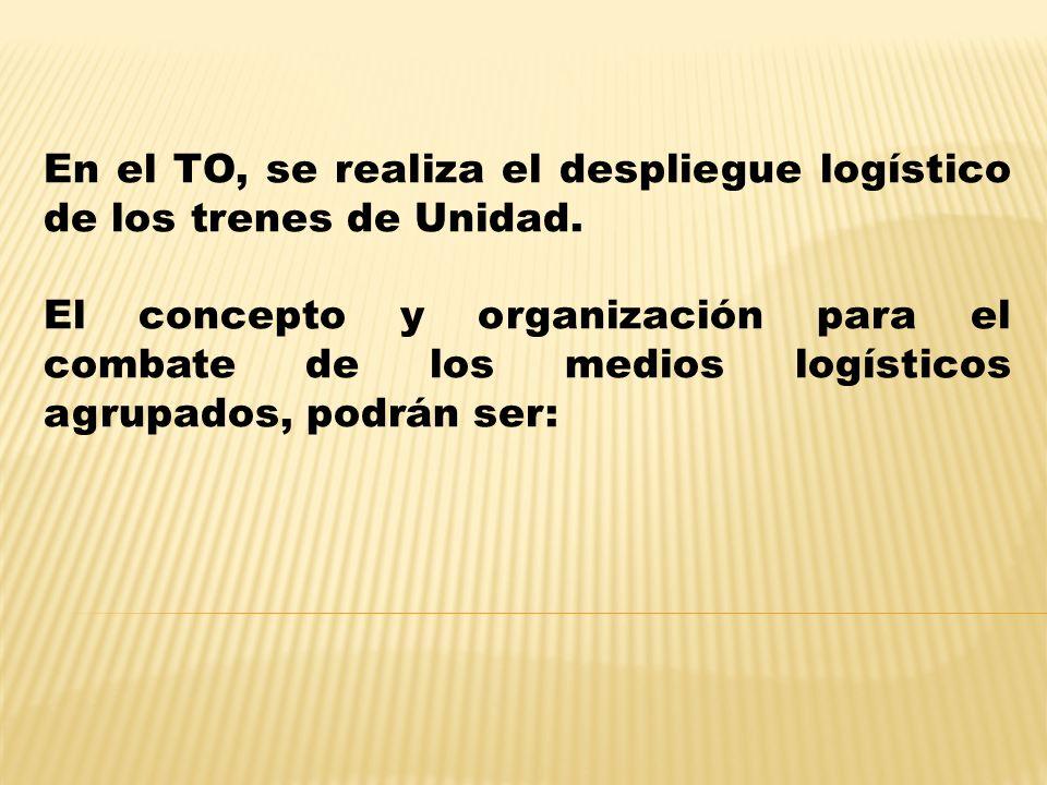 En el TO, se realiza el despliegue logístico de los trenes de Unidad.