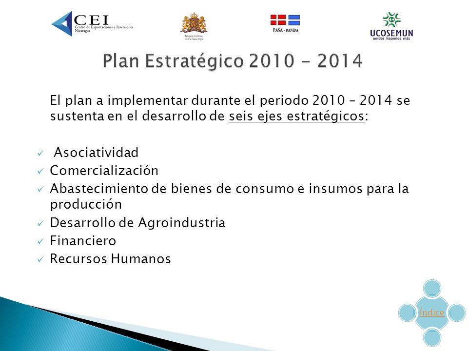Plan Estratégico 2010 - 2014 El plan a implementar durante el periodo 2010 – 2014 se sustenta en el desarrollo de seis ejes estratégicos: