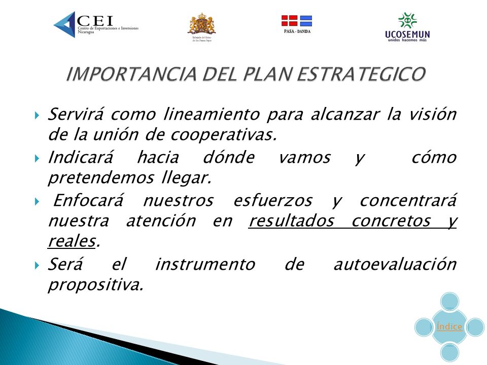 IMPORTANCIA DEL PLAN ESTRATEGICO