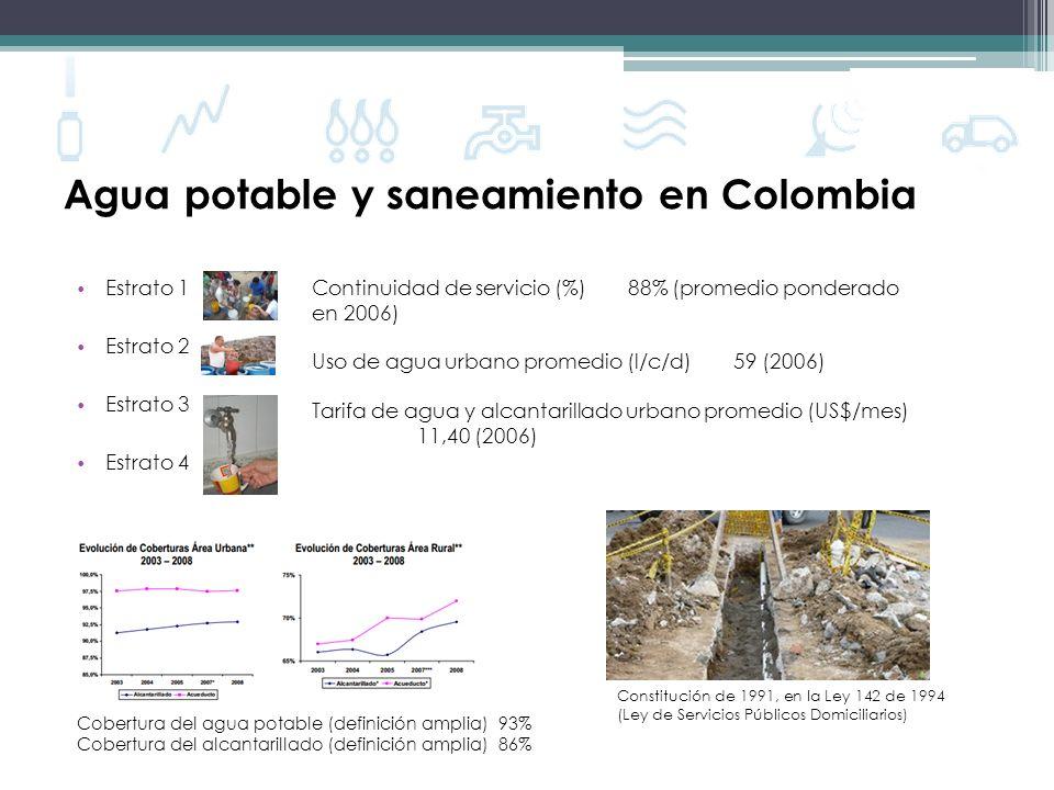 Agua potable y saneamiento en Colombia
