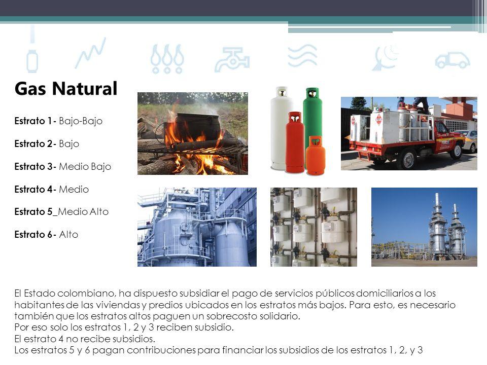 Gas Natural Estrato 1- Bajo-Bajo Estrato 2- Bajo Estrato 3- Medio Bajo