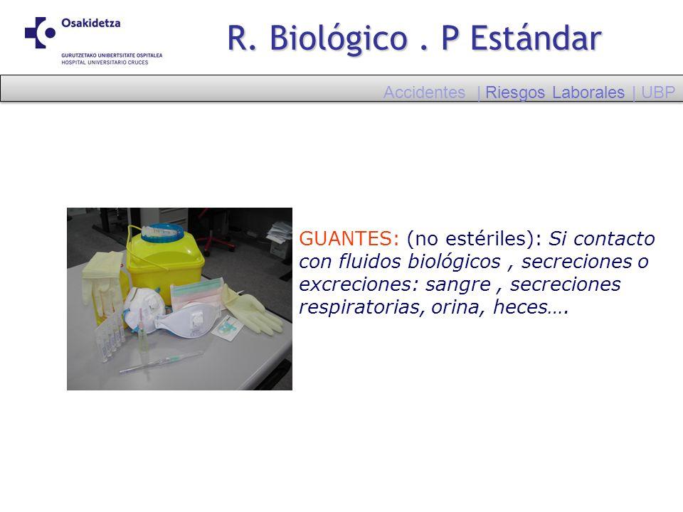 R. Biológico . P Estándar Accidentes | Riesgos Laborales | UBP.