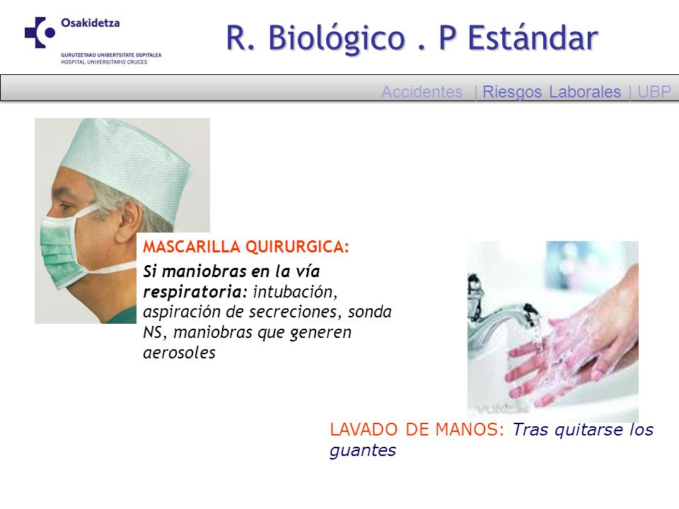R. Biológico . P Estándar Accidentes | Riesgos Laborales | UBP