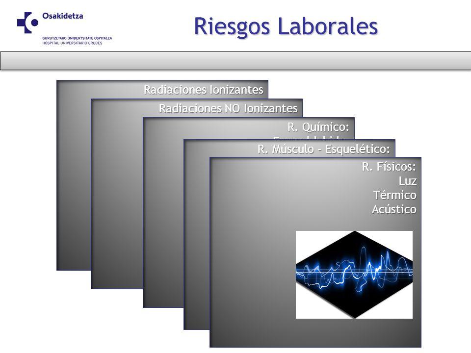 Riesgos Laborales Radiaciones Ionizantes Radiaciones NO Ionizantes