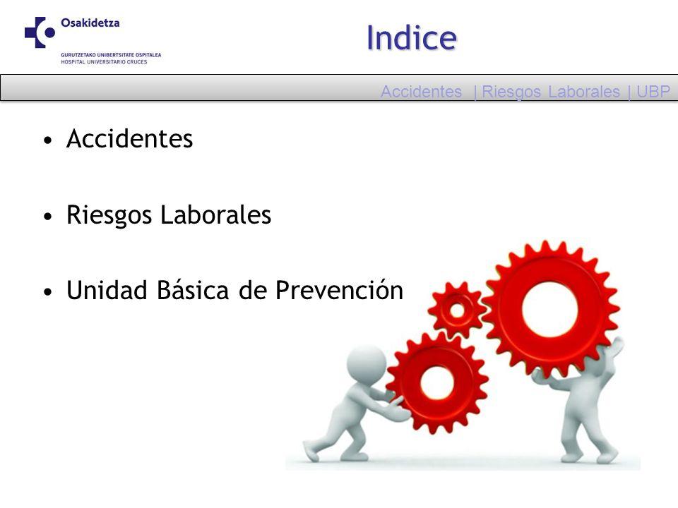 Indice Accidentes Riesgos Laborales Unidad Básica de Prevención