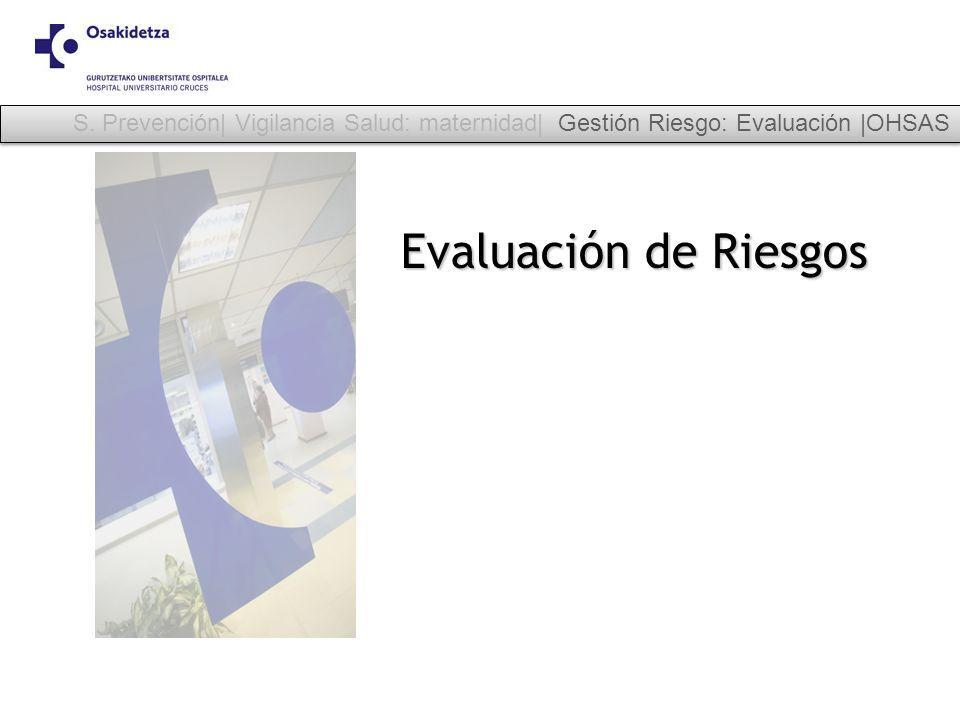 S. Prevención| Vigilancia Salud: maternidad| Gestión Riesgo: Evaluación |OHSAS
