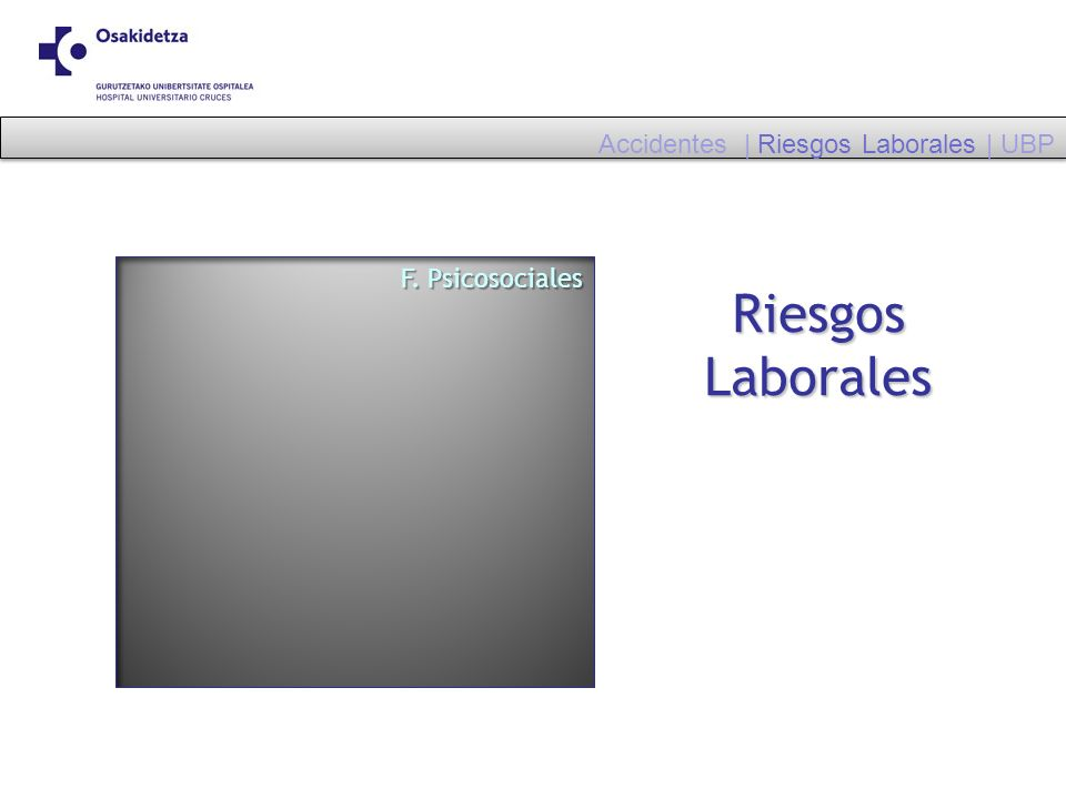 Riesgos Laborales Accidentes | Riesgos Laborales | UBP