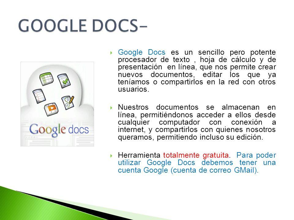 GOOGLE DOCS-