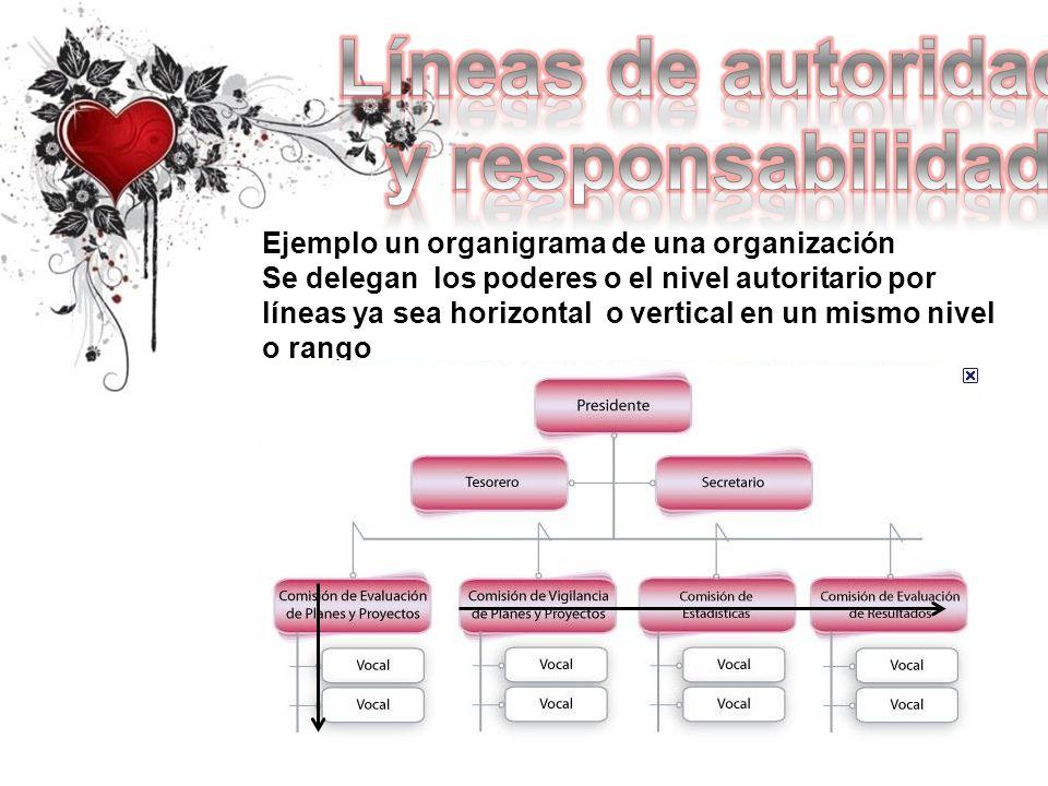 Líneas de autoridad y responsabilidad