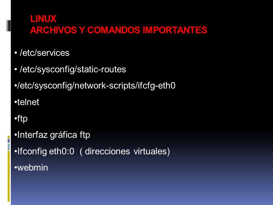 LINUX ARCHIVOS Y COMANDOS IMPORTANTES