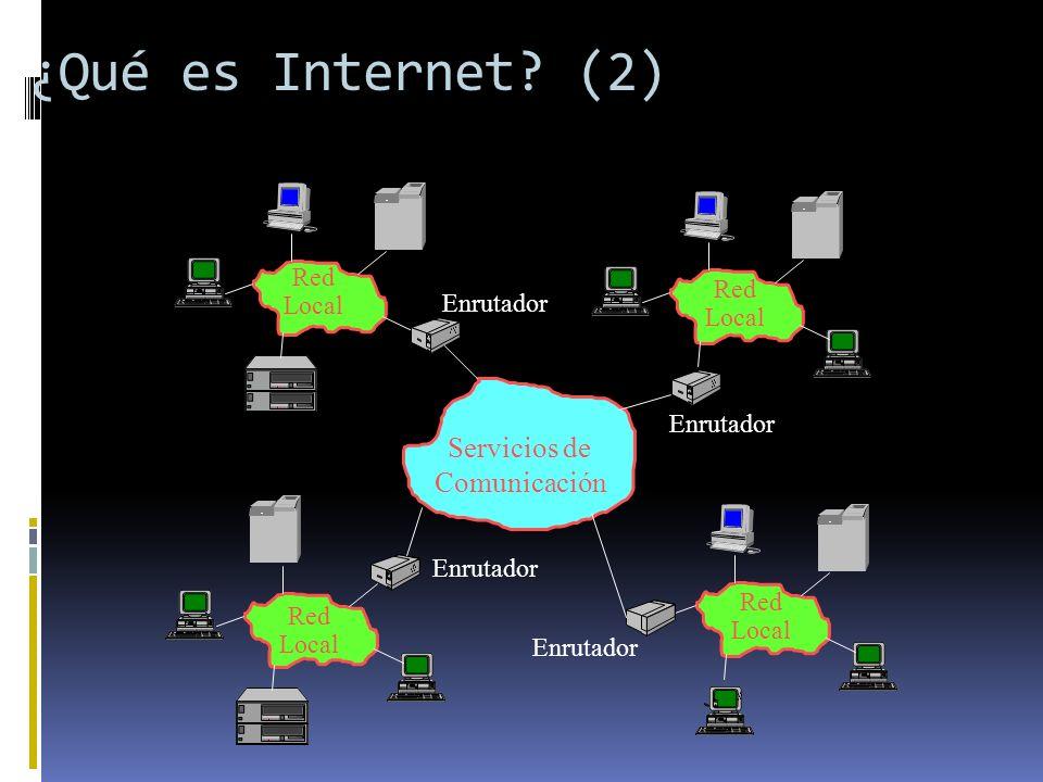¿Qué es Internet (2) Servicios de Comunicación Red Local Red
