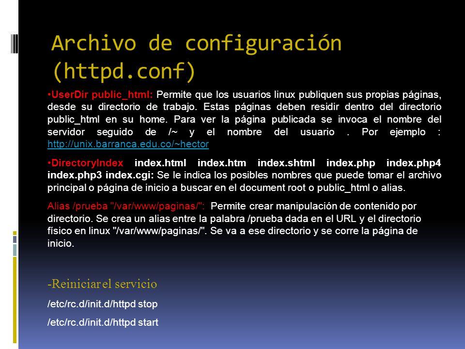Archivo de configuración (httpd.conf)
