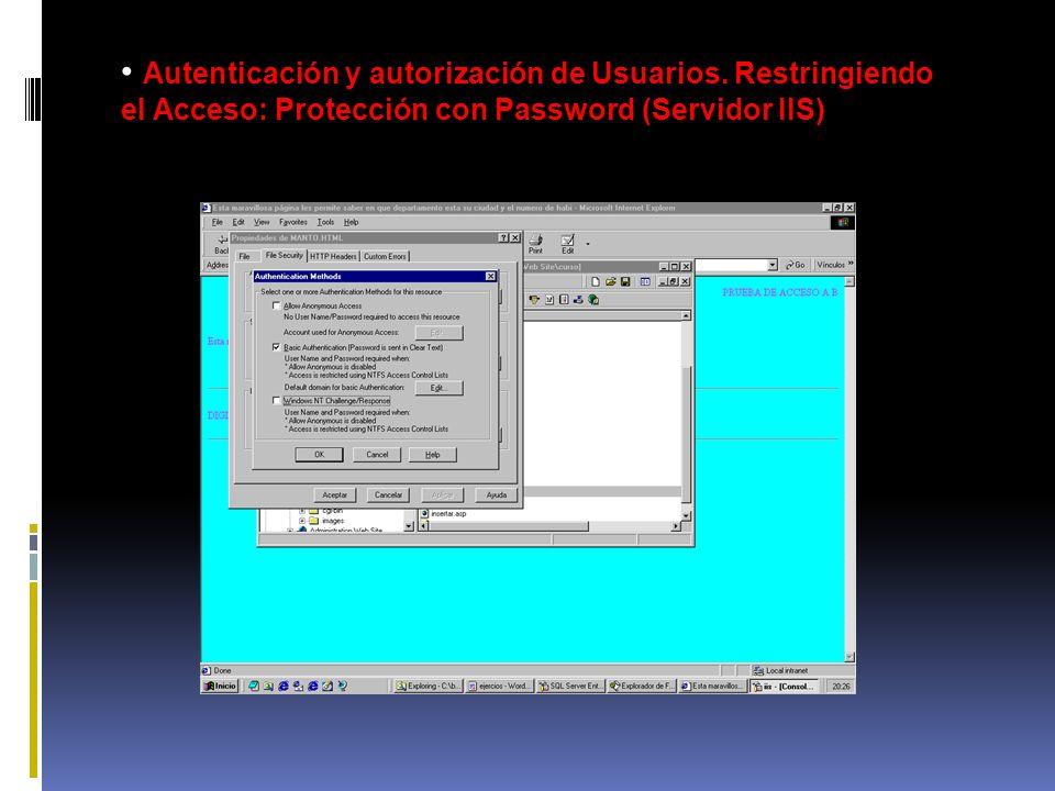 Autenticación y autorización de Usuarios