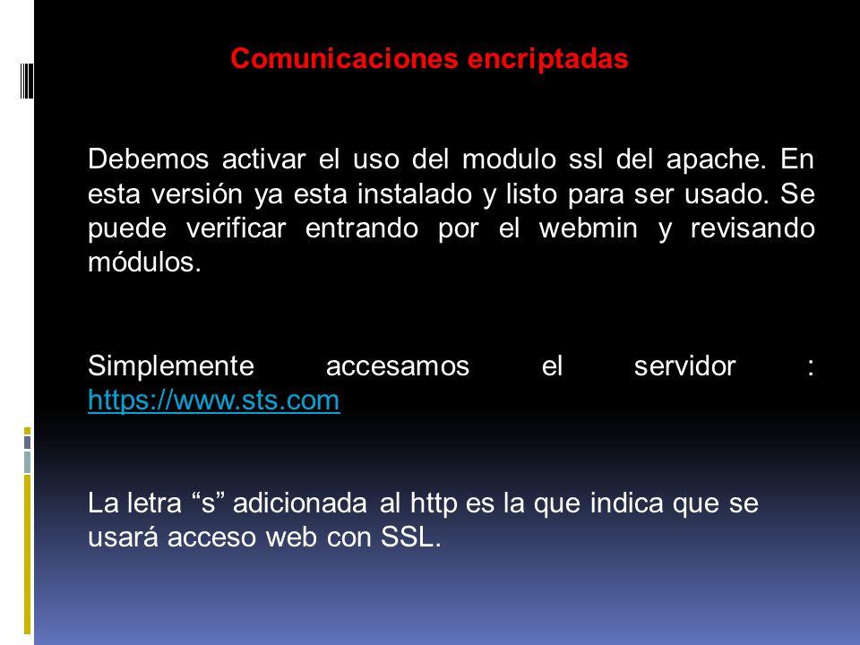 Comunicaciones encriptadas