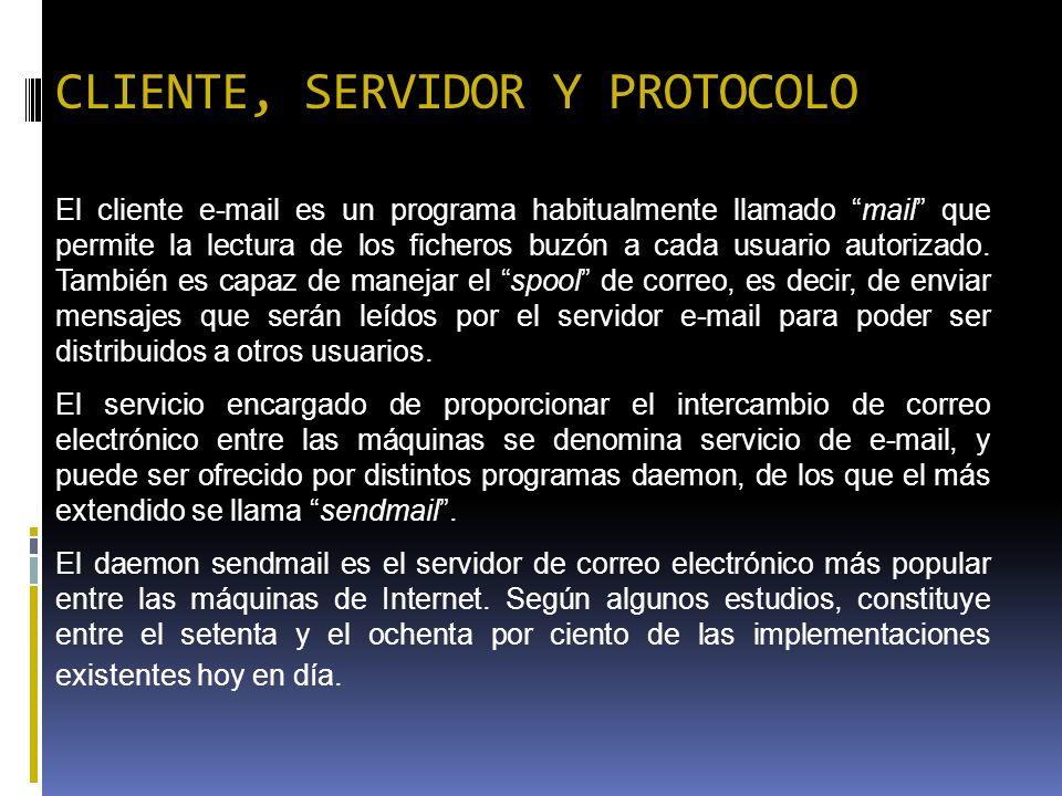CLIENTE, SERVIDOR Y PROTOCOLO