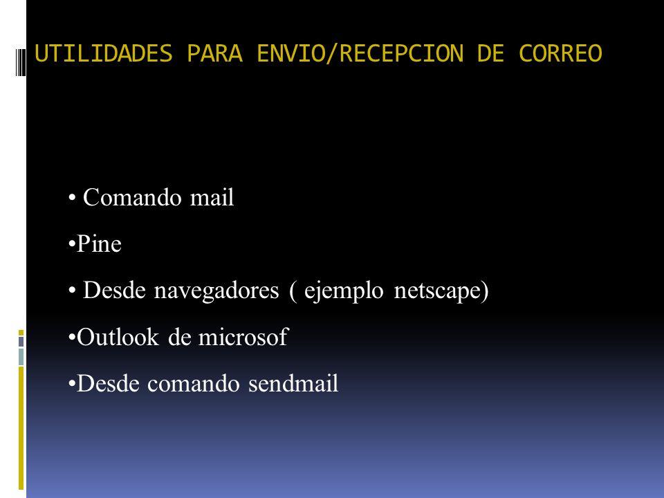 UTILIDADES PARA ENVIO/RECEPCION DE CORREO