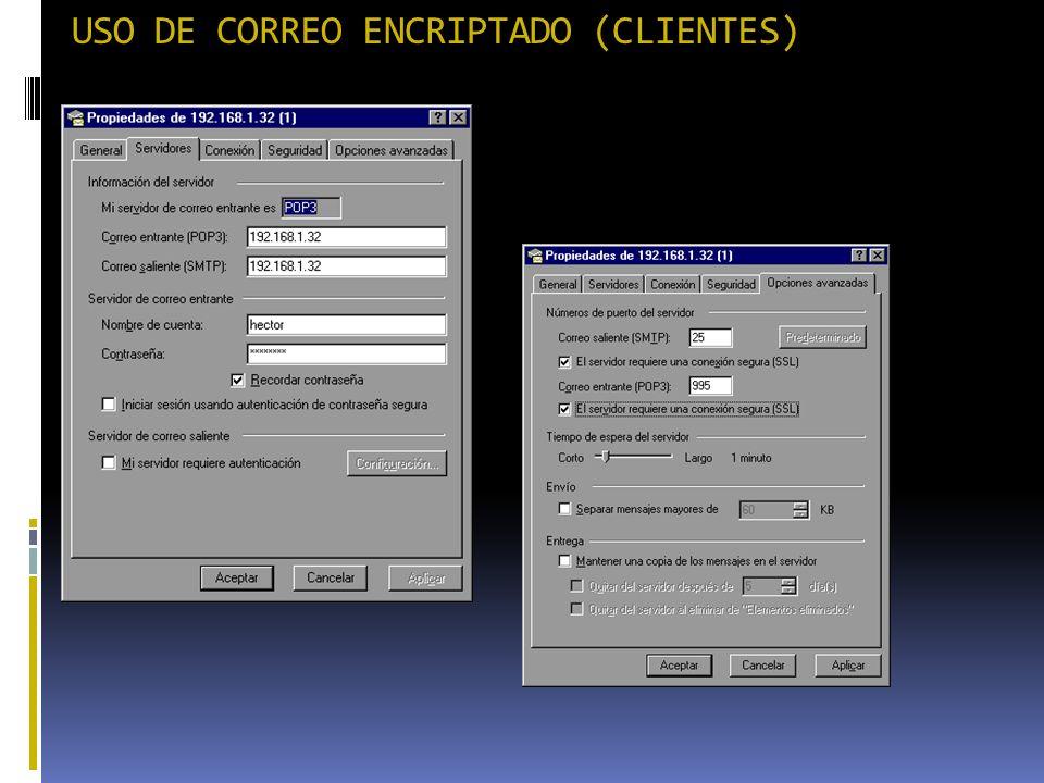 USO DE CORREO ENCRIPTADO (CLIENTES)