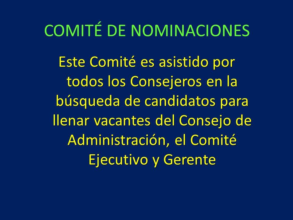 COMITÉ DE NOMINACIONES