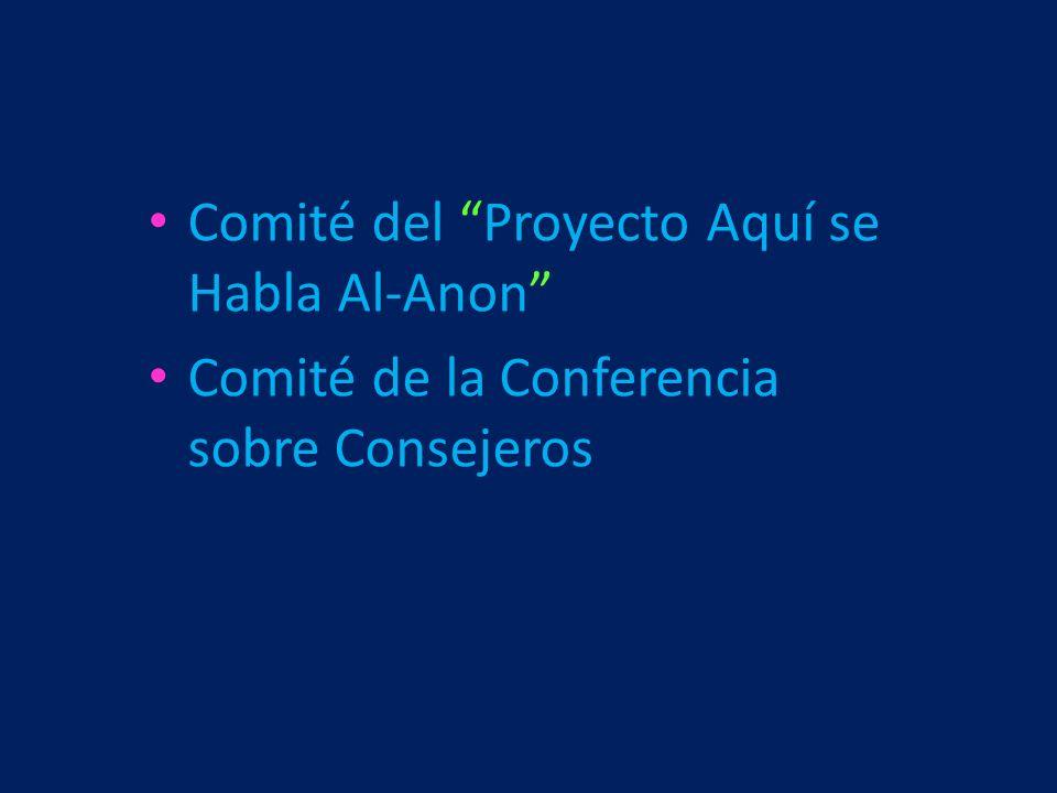 Comité del Proyecto Aquí se Habla Al-Anon