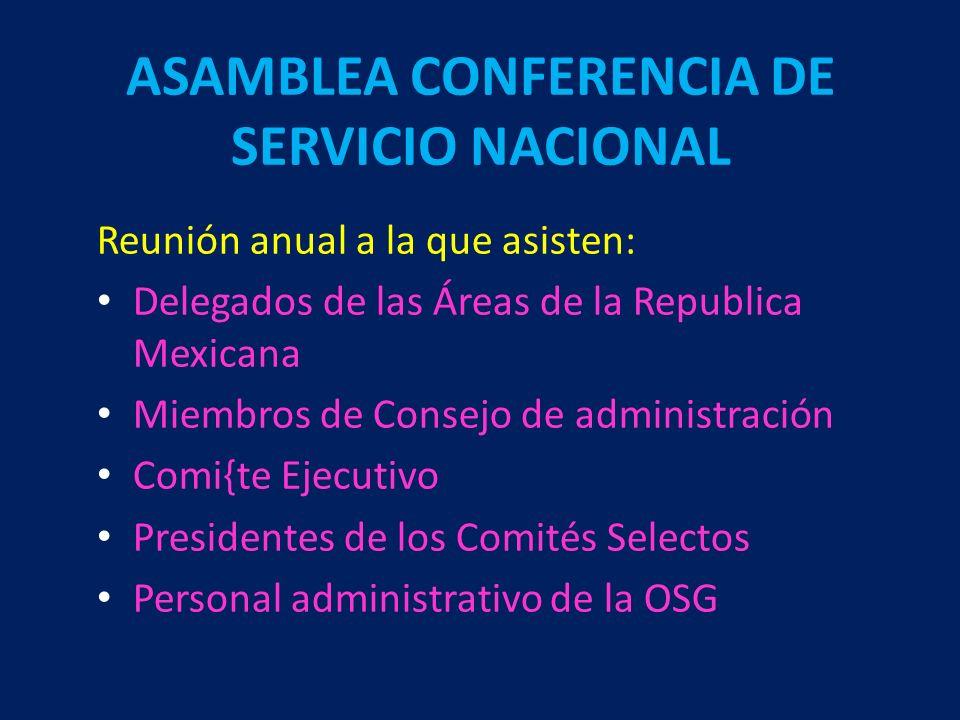 ASAMBLEA CONFERENCIA DE SERVICIO NACIONAL