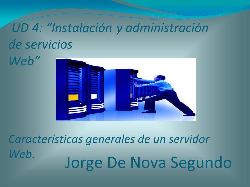 UD 4: Instalación y administración de servicios Web Características generales de un servidor Web.