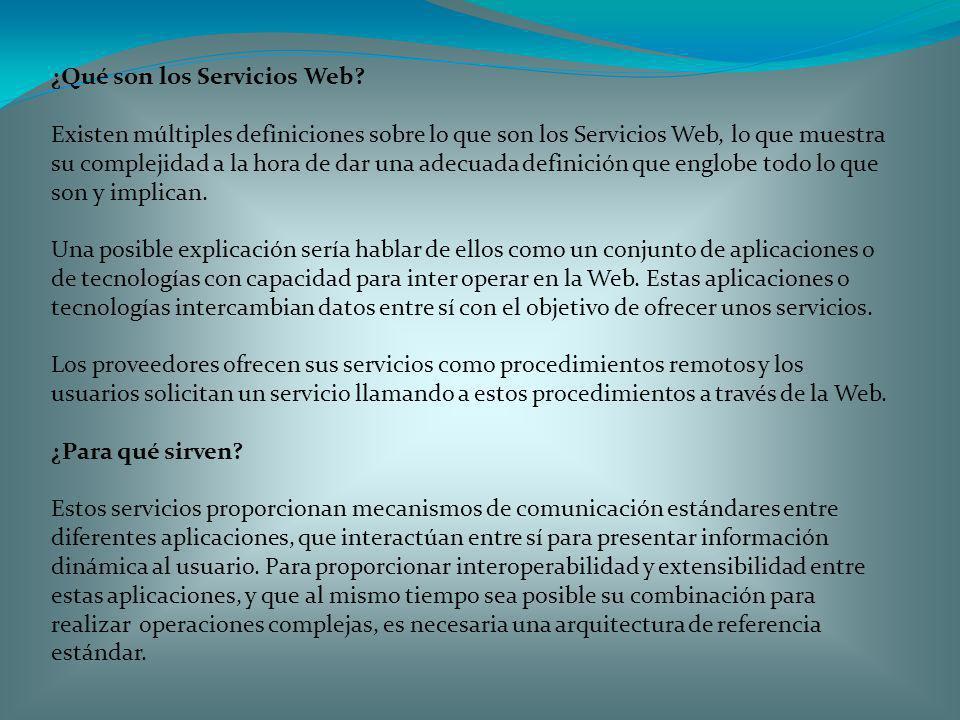 ¿Qué son los Servicios Web