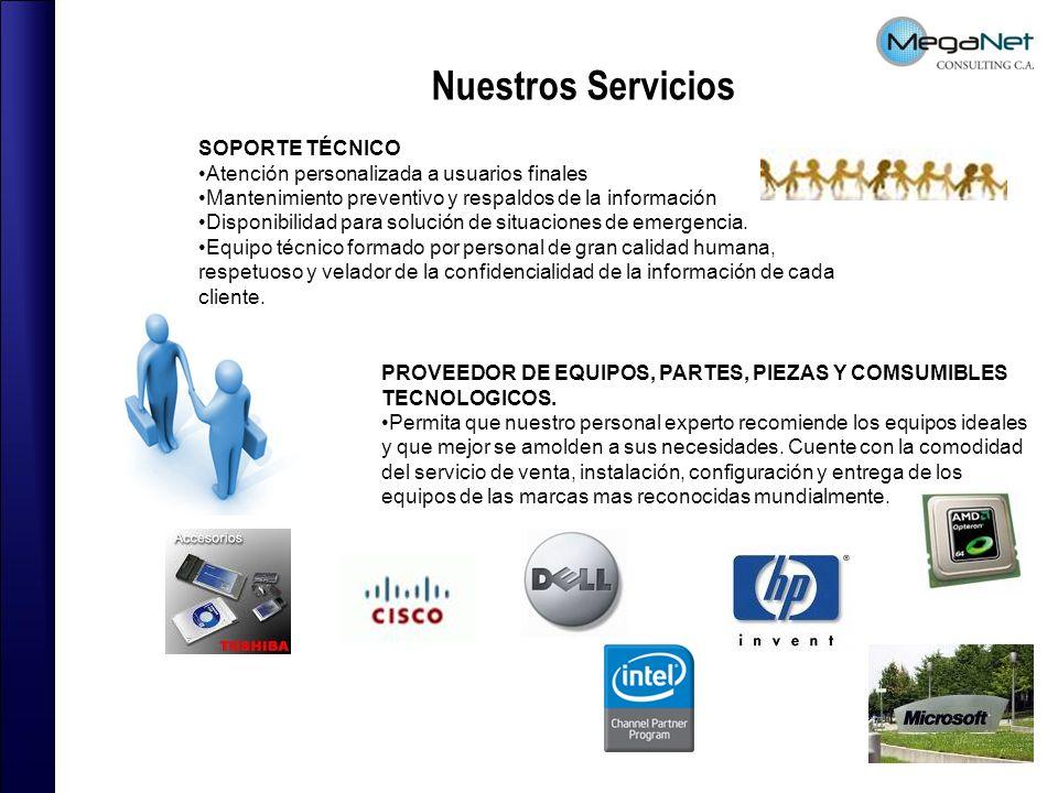 Nuestros Servicios SOPORTE TÉCNICO