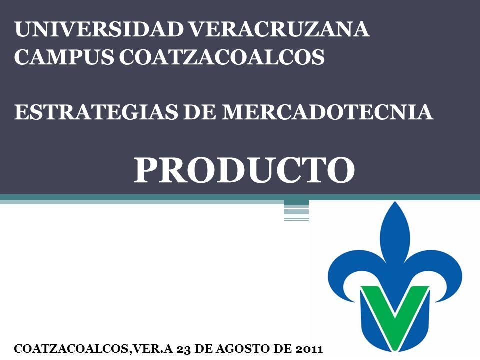 PRODUCTO UNIVERSIDAD VERACRUZANA CAMPUS COATZACOALCOS