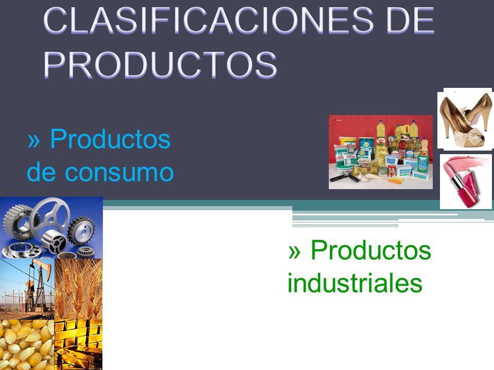 CLASIFICACIONES DE PRODUCTOS