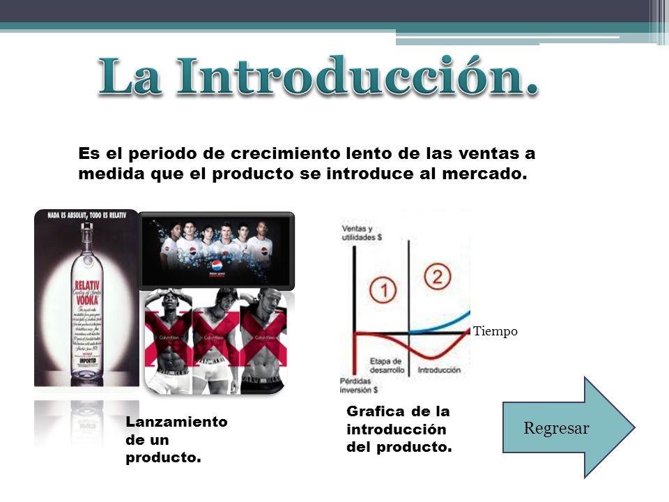 La Introducción. Es el periodo de crecimiento lento de las ventas a medida que el producto se introduce al mercado.