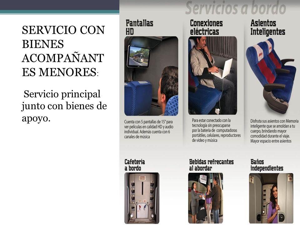 SERVICIO CON BIENES ACOMPAÑANTES MENORES: