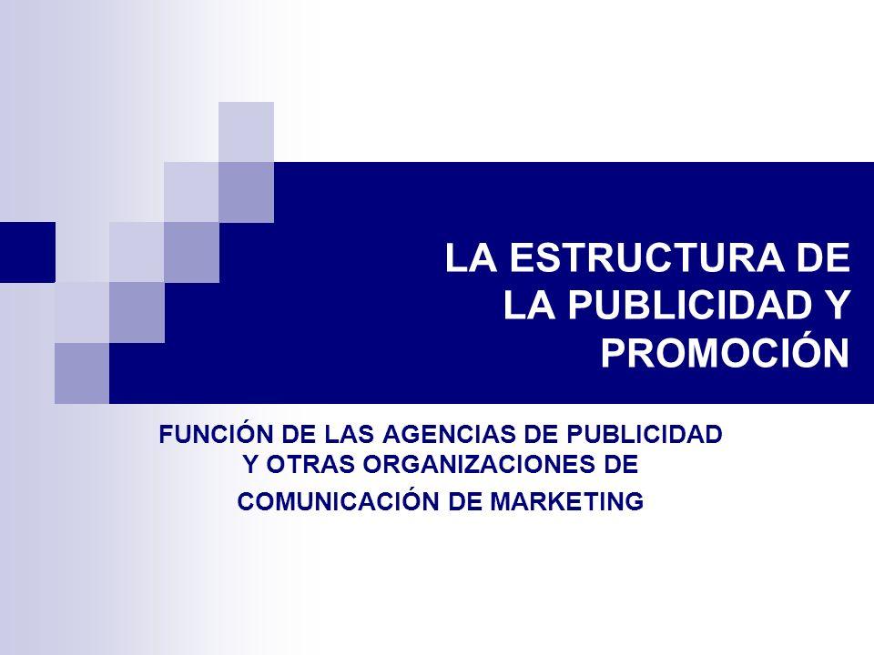 LA ESTRUCTURA DE LA PUBLICIDAD Y PROMOCIÓN