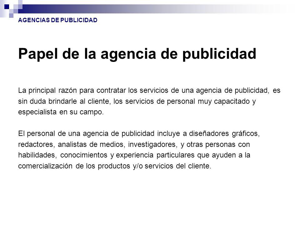 AGENCIAS DE PUBLICIDAD