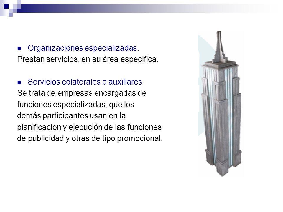 Organizaciones especializadas.