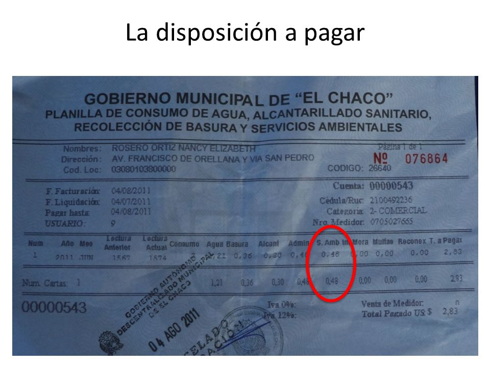 La disposición a pagar