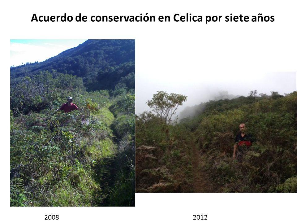 Acuerdo de conservación en Celica por siete años