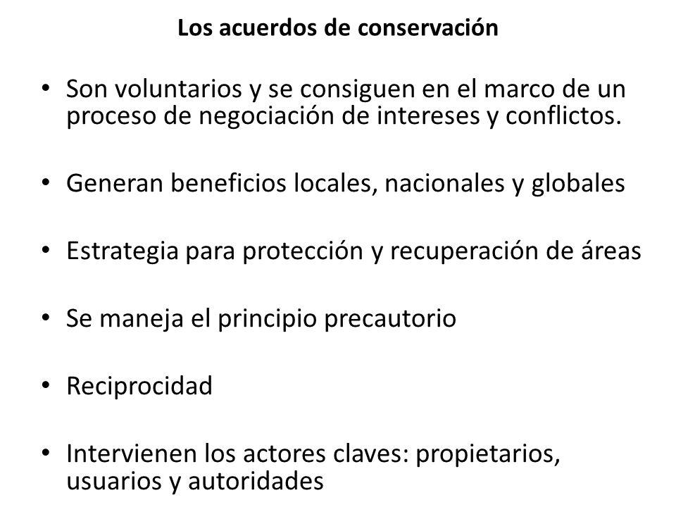 Los acuerdos de conservación