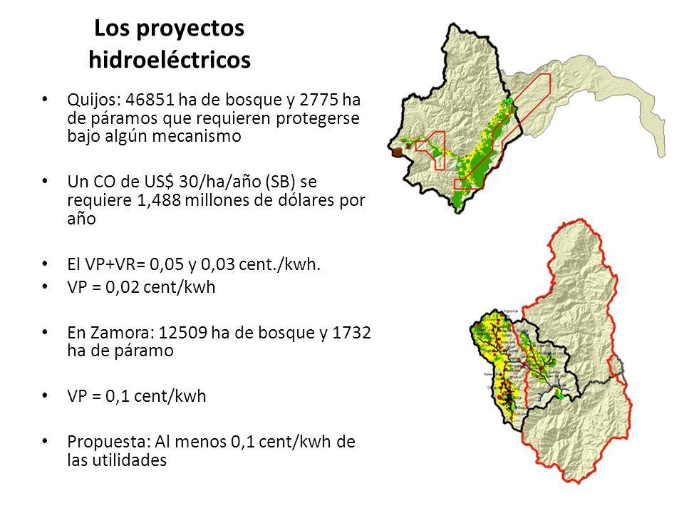 Los proyectos hidroeléctricos