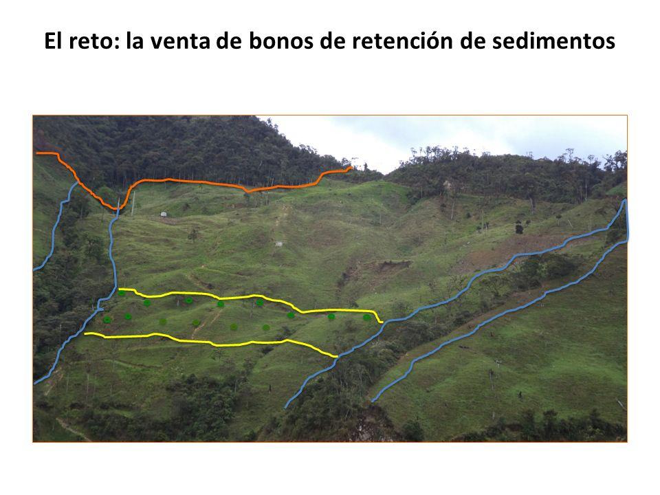 El reto: la venta de bonos de retención de sedimentos