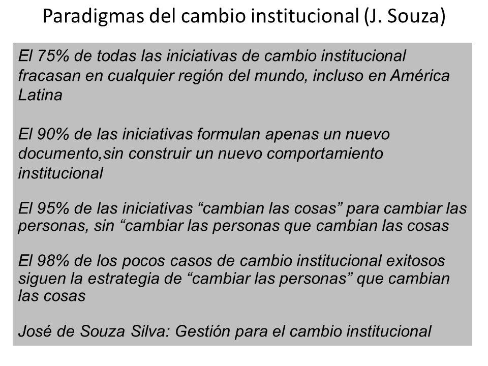 Paradigmas del cambio institucional (J. Souza)