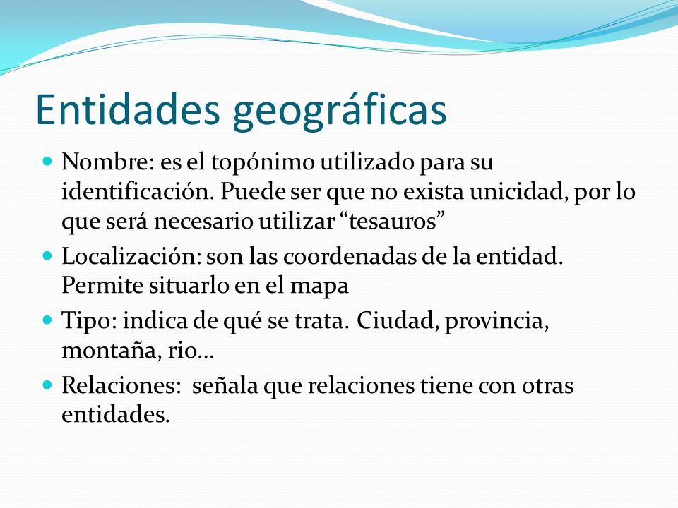 Entidades geográficas