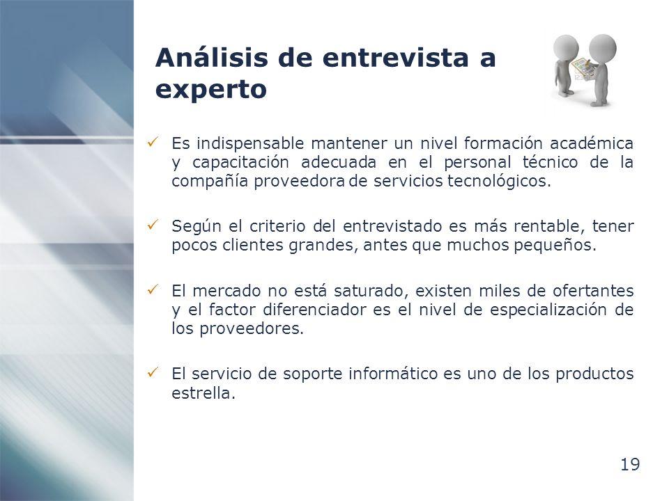 Análisis de entrevista a experto