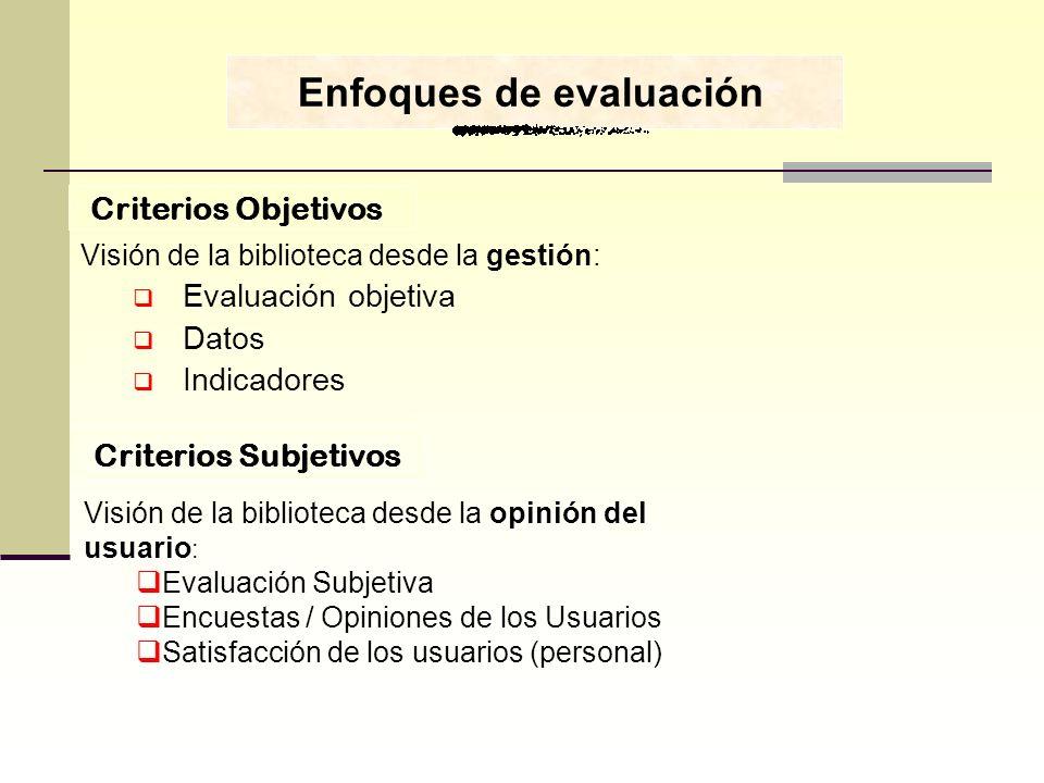 Enfoques de evaluación